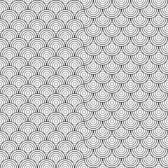 Asian Japanese tradition seamless pattern in white and black col