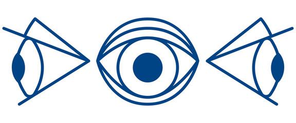 Cartoon eye symbol