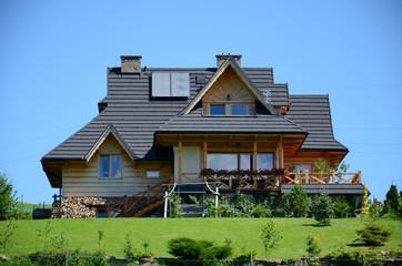 Fototapeta Wooden house in the mountains (The Tatras in Poland) obraz