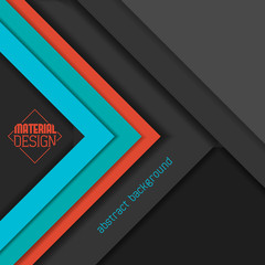 Material design wallpaper, grays and bright colors