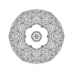 Vector Beautiful Deco Mandala, Patterned Design Element, Ethnic