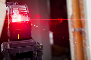 Laser level gauge light