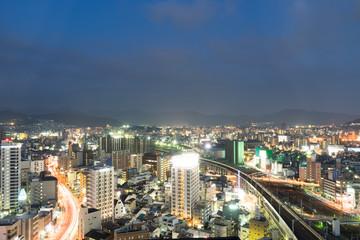 広島駅隣接ホテルから東側の夜景