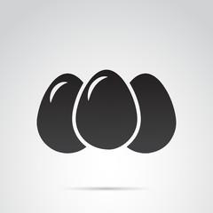 Egg vector icon on white background.