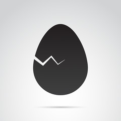 Egg vector icon on white background.