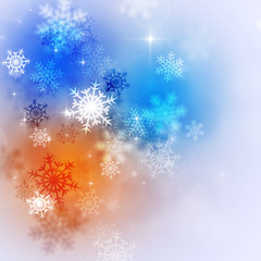 Abstract Bright Winter Background