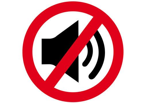 Schild Lautstärke verboten
