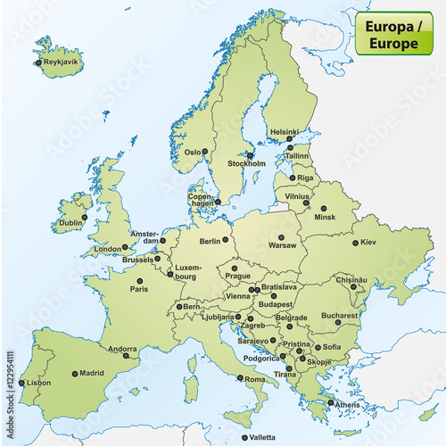 map of europe with capitals pdf