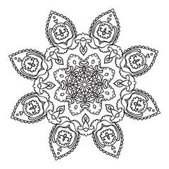 Hand drawing mandala element