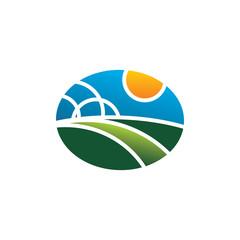 Farm Logo Simple Modern Vector Icon