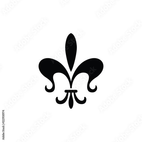 Fleur De Lis Logo Simple Modern Vector Icon Stock Image And Royalty