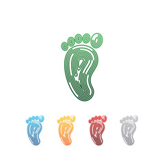 Footprint Foot Logo Simple Modern Vector Icon