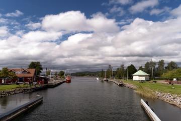 Göta Kanal bei Karlsborg in Schweden