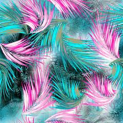 palm leopard mix tropical surface