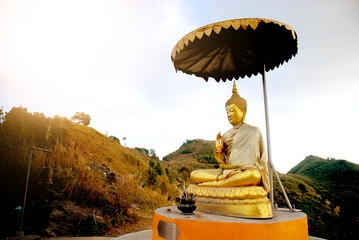 buddha on the mountain in thailand