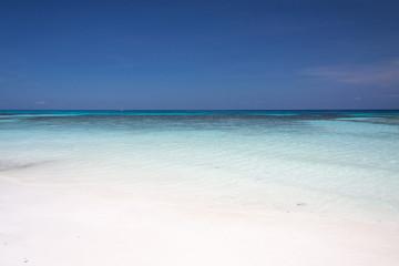 White sand beach.