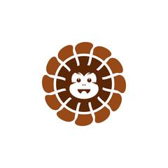 Monkey Bread Logo Simple Modern Vector Icon