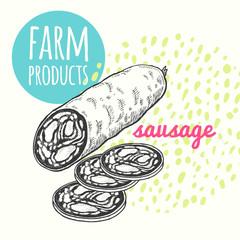 Farmer's sausage product.