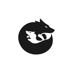 Wolf And Son Logo Simple Modern Vector Icon