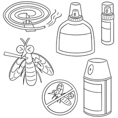 vector set of mosquito repeller