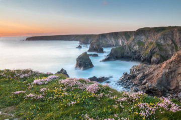 Bedruthan Steps with thrift out