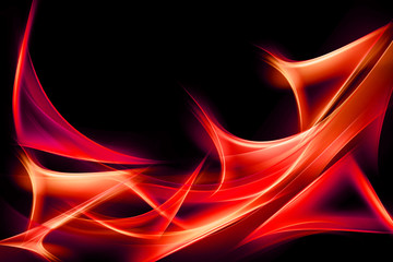 Abstract Wave Red Fire Element of Design Background