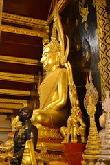 Phra Phuttha Chinarat which is considered by some Thais to be the most beautiful Buddha image in Thailand. Wat Phra Si Rattana Mahathat.Phitsanulok Province.Thailand