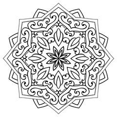 Аbstract ornamental mandala.