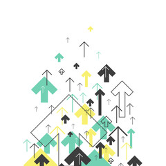 Wall Murals Birds in cages Abstract Success Concept. Growing arrows Illustration. Motion Up