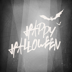 Halloween design template card. Abstract film noir background.