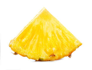 pineapple piece isolated on white background