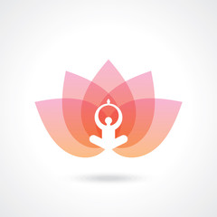 Vector yoga/spa icon.