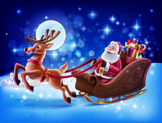 santa claus delivery gifts