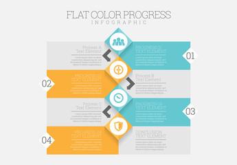 Flat Color Progress Infographic