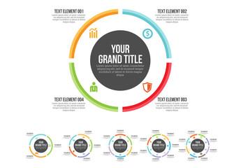 Minimal Circle Infographic
