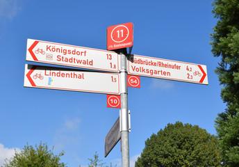 Fahrradwegenetz in Köln