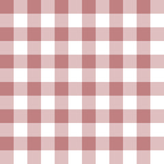 Checkered seamless pattern in old rose and white