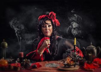 Witch uses unforgivable curse ritual