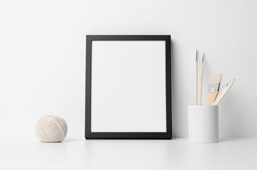 8x10 Black Frame Mock-Up - Portrait