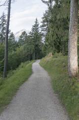 Wanderweg mit Alpspitze in Bayern