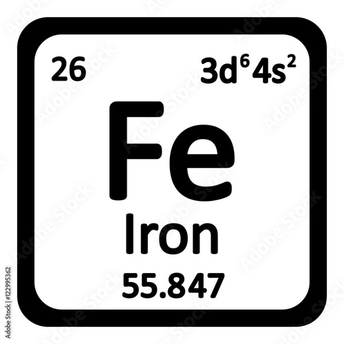 Periodic table element iron icon stock image and royalty free vector files on - Iron on the periodic table ...