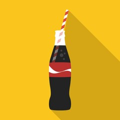 Cola flat icon on isolated transparent background