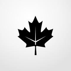 maple leaf icon. flat design