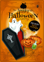 Invitation placard to Spooky Halloween Party
