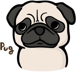 パグ(犬のイラスト)