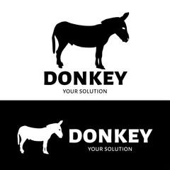 Vector logo donkey. Silhouette of a donkey. Brand logo