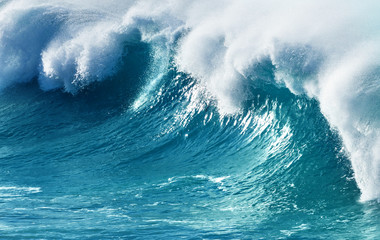 Blue Large Powerful Ocean Wave