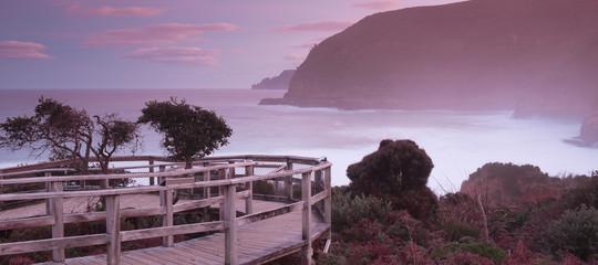 Beautiful Maingon Bay in Port Arthur at dusk.
