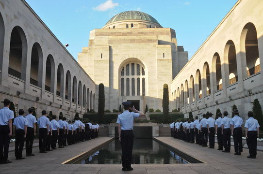 Parade event for the fallen in Anzac War Museum in Canberra Aust
