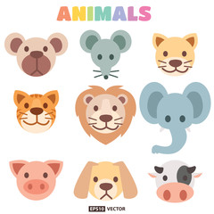 Animals head collection